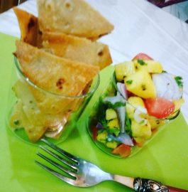 Leftover Roti Nachos with Mango Salsa Recipe