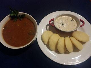 Sooji Idli with Vegetable Sambhar Recipe