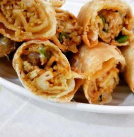 Leftover Seviyan (Noodles) Vegetables Spring Rolls Recipe