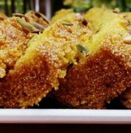 Eggless and Butterfree Mango Semolina Cake Recipe