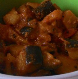 Baigan Aloo Tamatar Curry Recipe