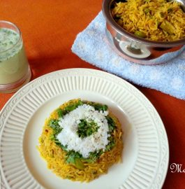 Masale Bhaat / Traditional Maharashtrian Rice Recipe