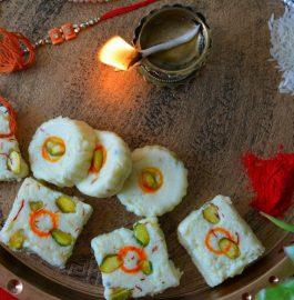 Milk Powder Chhena Burfi Recipe