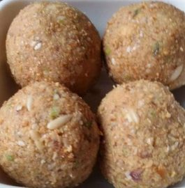 Sesame Pinni Churma Laddu Recipe