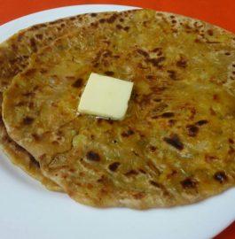Punjabi Aloo Onion Peas Mix Paratha Recipe