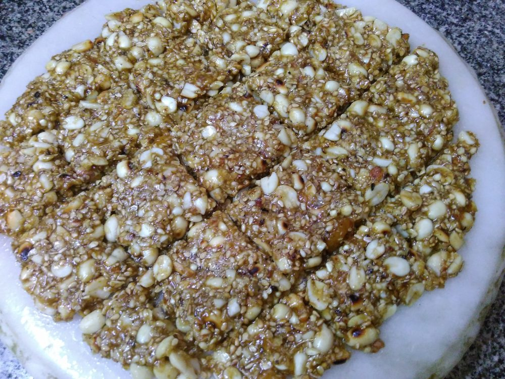 Peanuts Til ki Chikki ( Homemade Energy Bar) Recipe