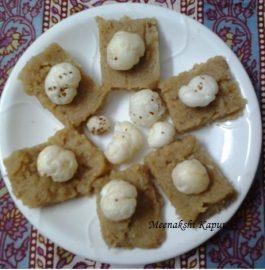 Atta Makhana Burfi Recipe