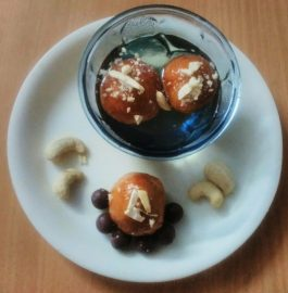Chocolate stuffed Gulab Jamun Recipe