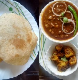 Chole Bhature with Masala Aloo Recipe