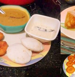 Idli, Dosa and Vada with Sambhar recipe