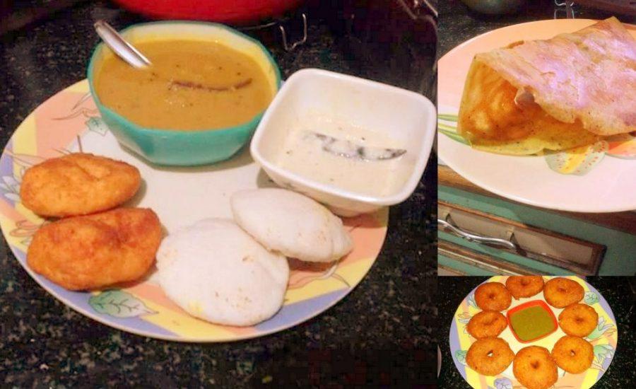 Idli, Dosa and Vada with Sambhar recipe