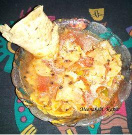 Punjabi Papad Masala Curry Recipe