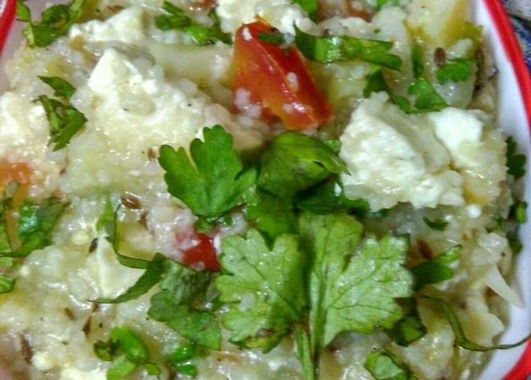 Samak Paneer Khichdi Recipe