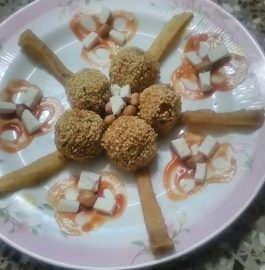 Kacche Shinghare (Chestnut) ki Lollipop Recipe