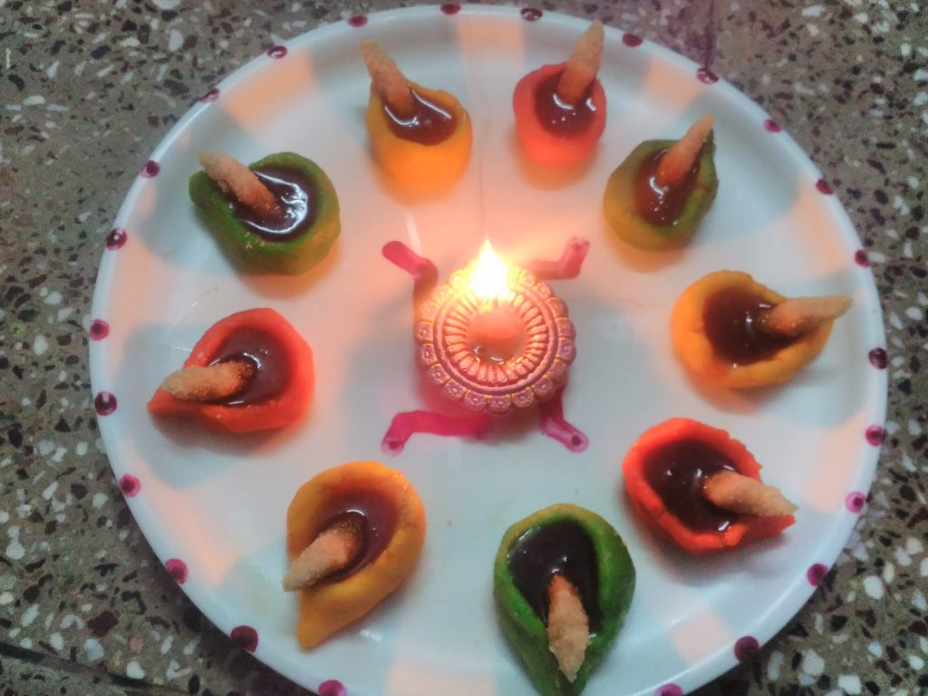Edible Diyas Recipe