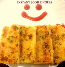 Sooji ( Semolina) Fingers Recipe