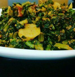 Mooli Paalak Sabzi - Tasty Curry