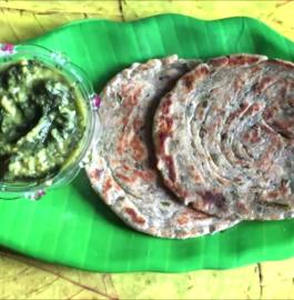 Pudina (Mint) Laccha Parantha Recipe