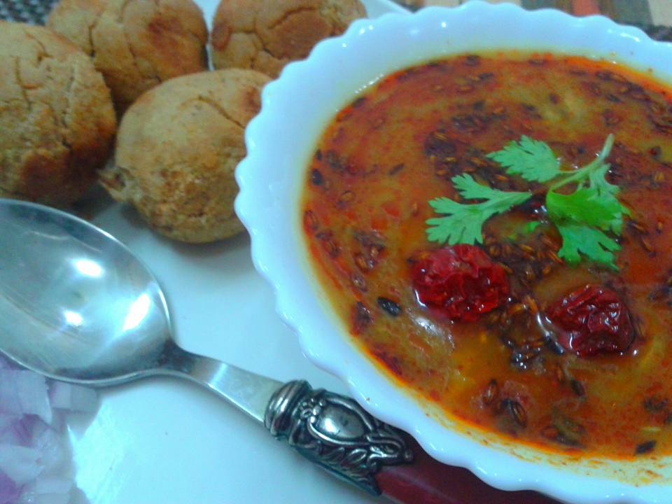 dal bati recipe without oven