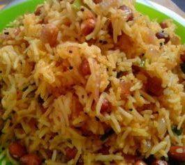 Onion Peanut Rice Recipe