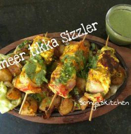 Paneer Tikka Sizzler Recipe