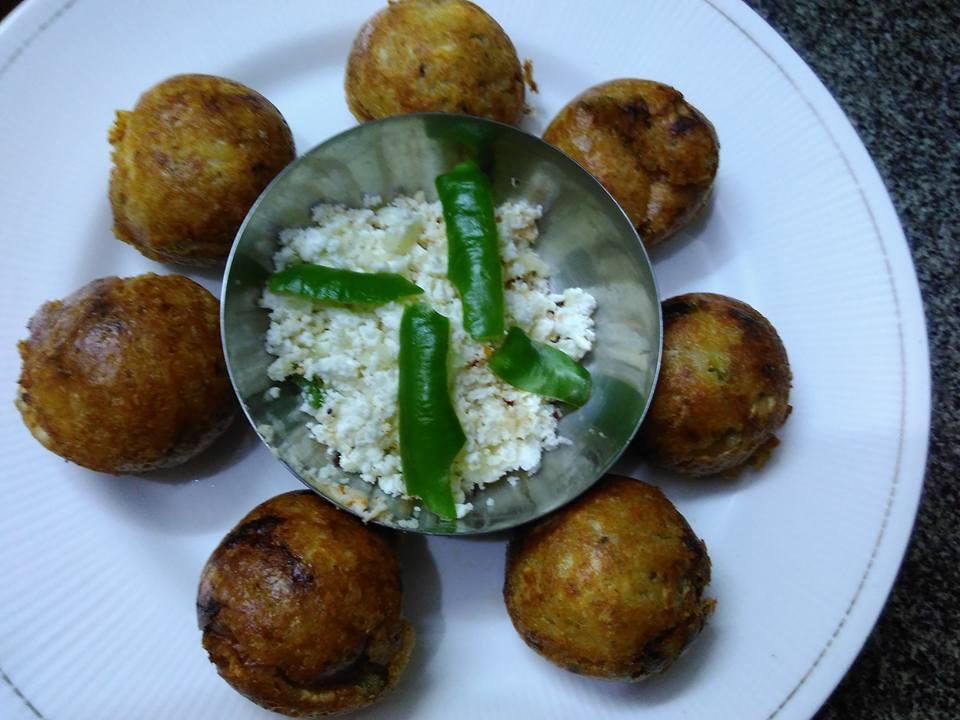 Potato Paneer Appam Recipe