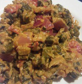 Bhindi do Pyaza (with curd) Recipe