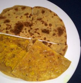 Leftover Dry Curry Stuffed Paratha Recipe