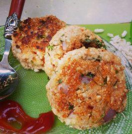 Leftover Kheel/Murmure Kabab Recipe