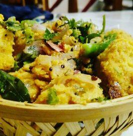 Leftover Rice Dhokla Recipe