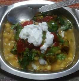 Aloo Tikki Chole Chaat Recipe