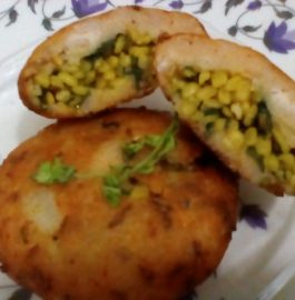 Moong Stuffed Bread Tikki Recipe