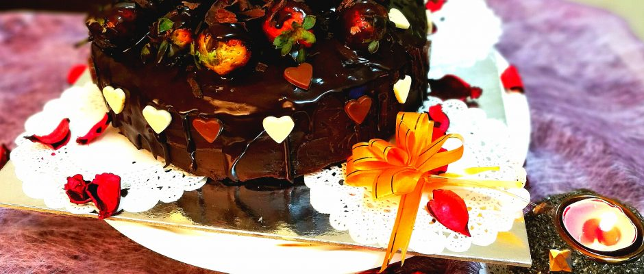 Dripping Eggless Chocolate Cake Recipe