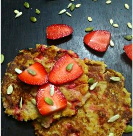 Oats Strawberry Pancake-Instant and Fruity