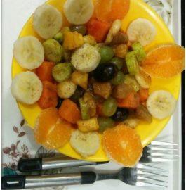Falahari Fruit Chaat - Juicy Snack!