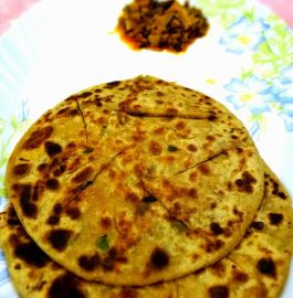 Green Onion methi paratha