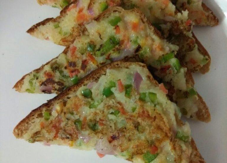 Rava Toast - Quick and Easy Recipe!