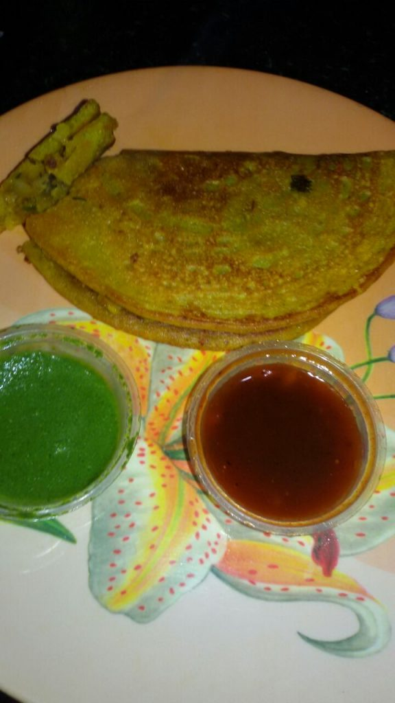 Moong Dal Stuffed Cheela - Healthy!!!