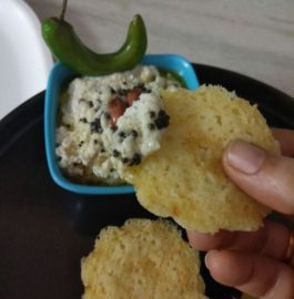 Suji Cupcakes with Coconut Chutney - Healthy Snack