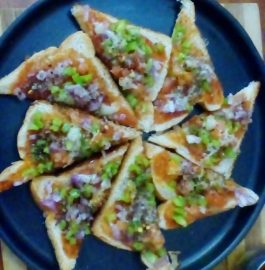 Bread pizza - Instant Snack