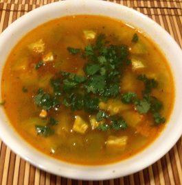 Karela and Potato Gravy - Healthy Bite