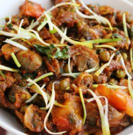 Mushroom with Green Peas - Delicious Curry
