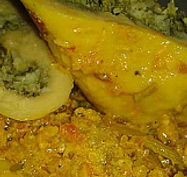 Stuffed Gatte Curry - Delicious Gravy!