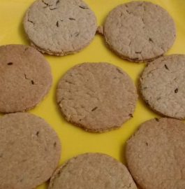 Wheat Flour Jeera Biscuits - Kids favorite!!