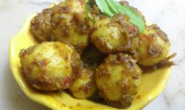 Lehsuni Baby Potatoes - Quick Curry