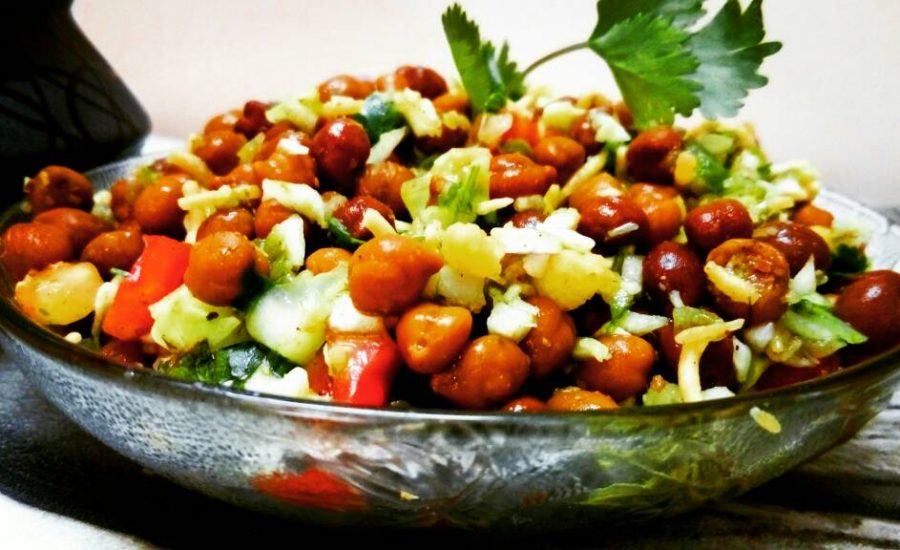 Black Chickpea Chaat : Nutritional Salad