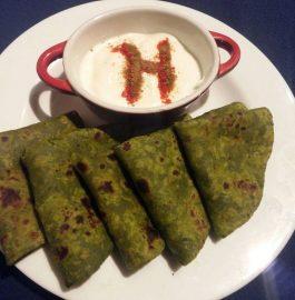 Palak Ka Paratha - Delicious And Healthy!