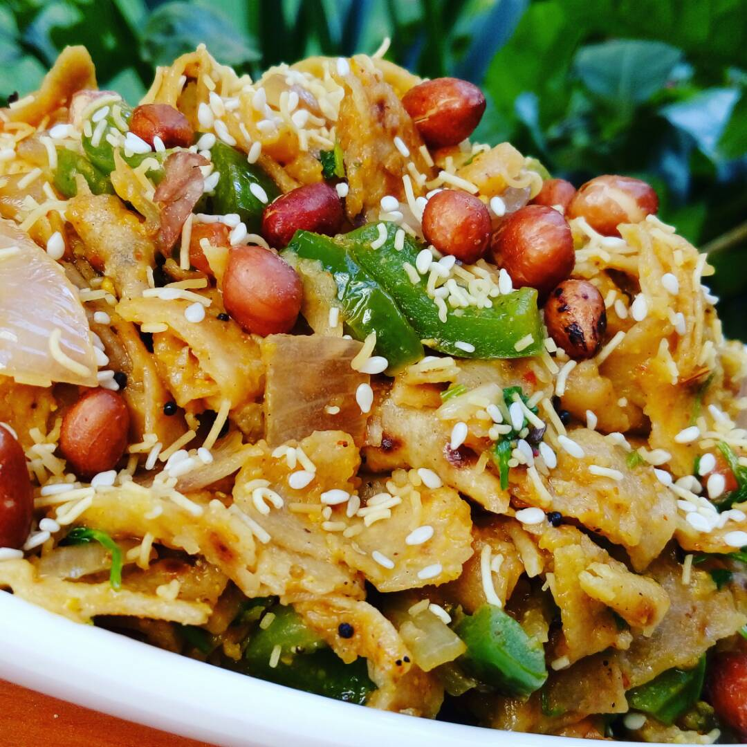 Leftover Roti Poha Recipe