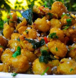 Sundal With Chickpea - South Indian Cuisine