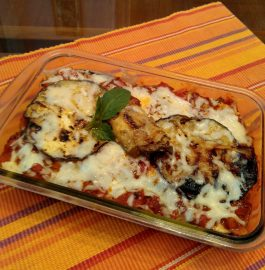 Baked Pasta With Brinjal - Healthy Meal